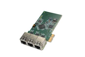 logiR-1GETH3 –  3-Port 1G Ethernet High-Speed Network Module