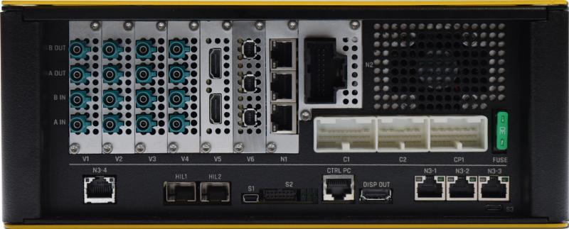logiRECORDER Back Side with native automotive interfaces
